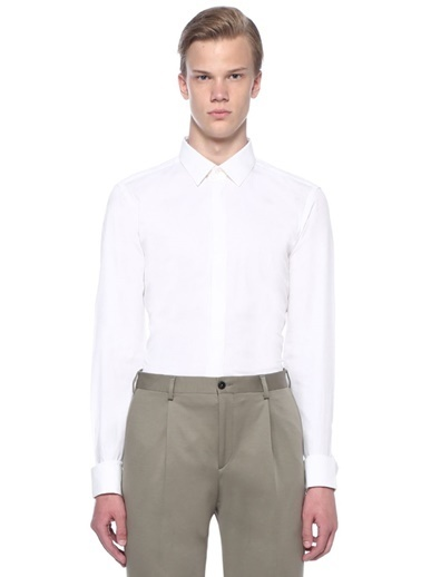 Pal Zileri Smokin Gömlek Beyaz